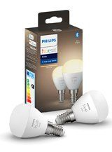 Philips Hue White LED pære - E14 Krone 2-pak