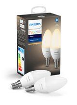 Philips Hue White LED pære - E14 Kerte 2-PAK - BT