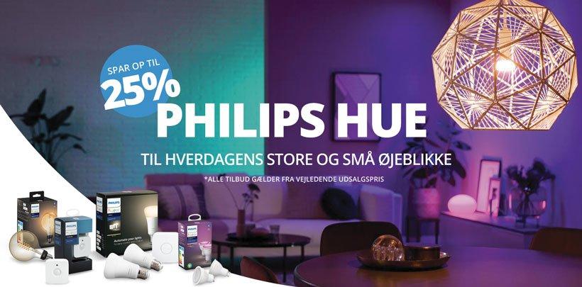 Spar op til 25% på Philips Hue