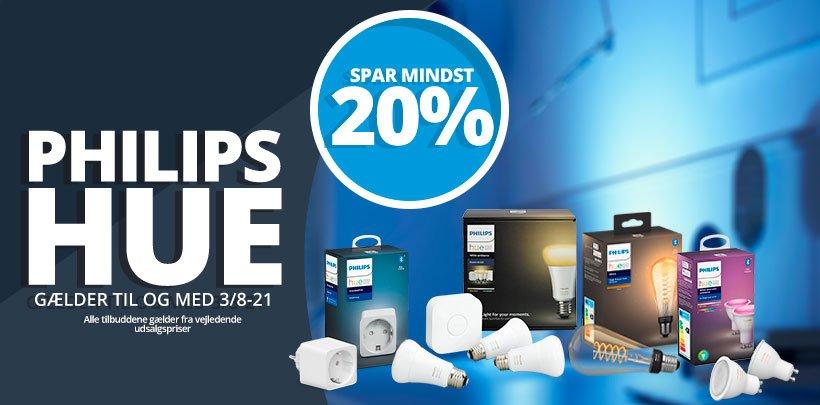 Spar mindst 20% på Philips Hue