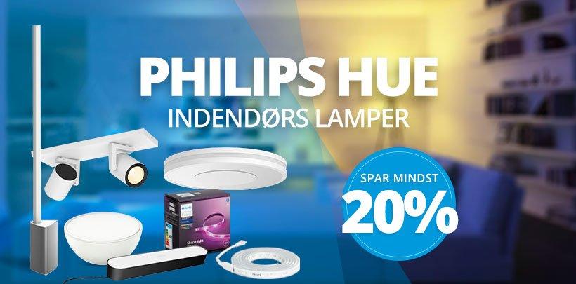 Spar mindst 20% på indendørs lamper