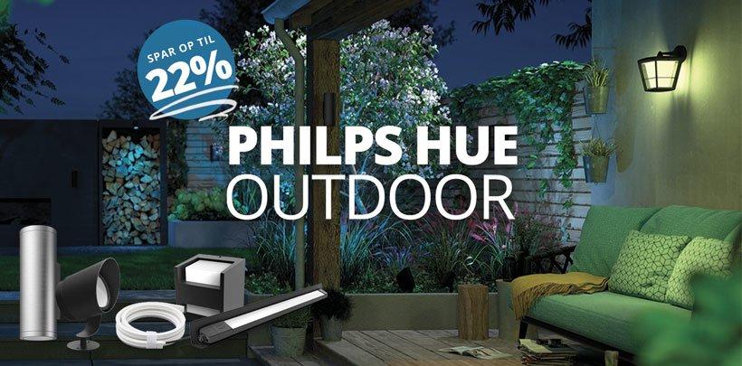 Spar op til 22% på alt Philips Hue Outdoor