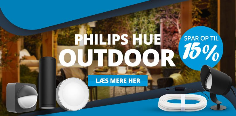 Spar op til 15% på Philips Hue Udendørs Belysning