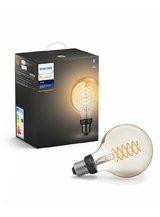 Philips Hue LED pære - E27 Filament Globe - BT