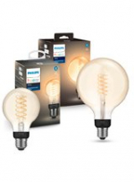 Philips Hue LED Filament - 2-pak - Globe + Globe XL