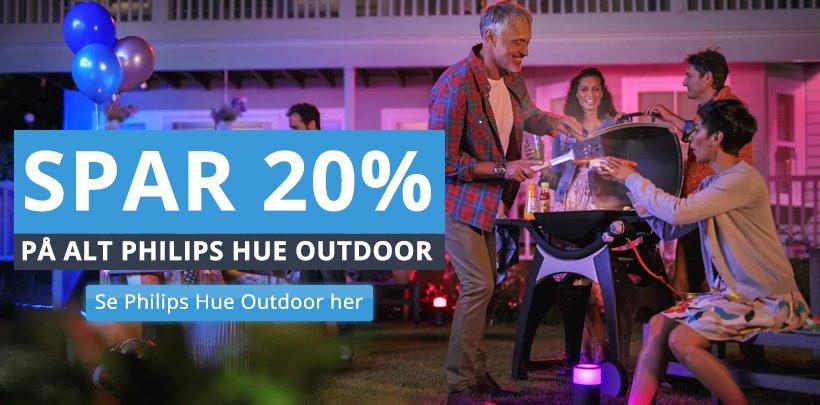 Spar 20% på Philips Hue Outdoor