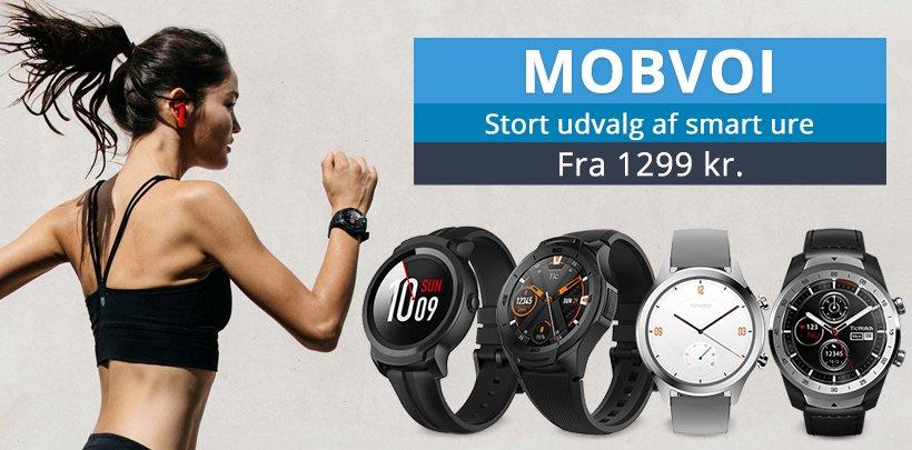 Stort udvalg af smarte ure fra Mobvoi - Fra 1199 kr.