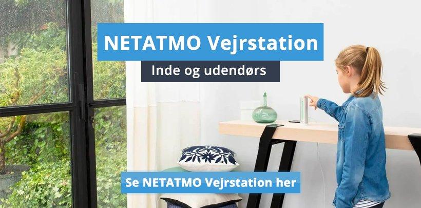 Vejrstation fra Netatmo til inde og ude.