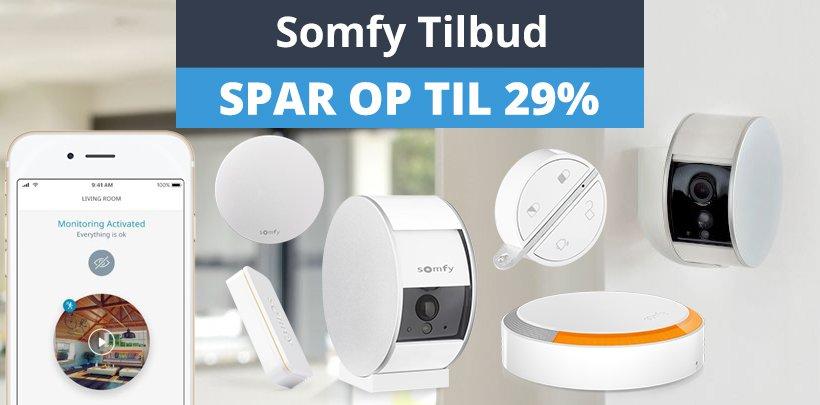 Spar op til 29% på Somfy